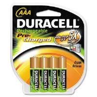 Rechargeable NiMH Batteries with Duralock Power Preserve Tech, AAA, 4/Pack