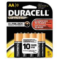 Duracell� CopperTop� Alkaline Batteries with Duralock Power Preserve� Technology