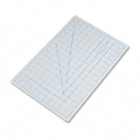 Self-Healing Cutting Mat, Nonslip Bottom, 1&quot; Grid, 12 x 18, Gray