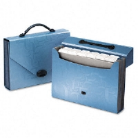 Essentials 26-Pocket Carry Case, Letter, 14-1/8 x 21 x 11-3/4, Blue