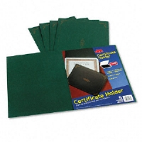 Certificate Holder, 12-1/2 x 9-3/4, Green, 5/Pack