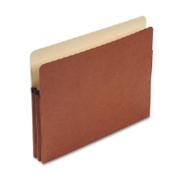 Expansion File Pocket, 1 3/4 Inch Expansion, Letter Size, Rollover Gusset, Red
