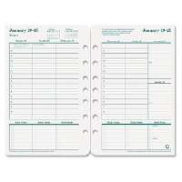Original Dated Weekly/Monthly Planner Refill, Jan.-Dec., 5-1/2 x 8-1/2, 2013