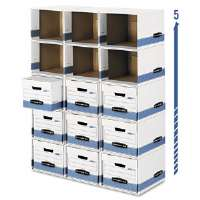 File/Cube Box Shell, Legal/Letter, White/Blue