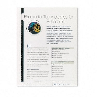 Thermal Binding System Covers, 60 Sheets, 11-1/8 x 9-3/4, Clear/White, 10/Pack