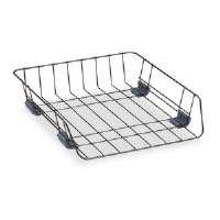 Workstation Letter Front Load Desk Tray, Wire, Black