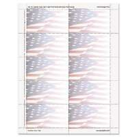 Flag Design Business Suite Cards, 3 1/2 x 2, 65 lb Cardstock, 250 Cards/Pack