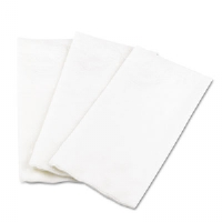 1/8 Fold Dinner Napkins, 15 x 16, White, 100/Pack