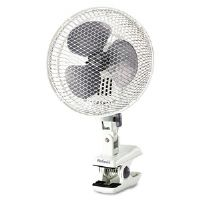 Personal Clip Fan, Two-Speed, White