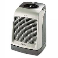 One-Touch Oscillating Heater/Fan, 9-1/8w x 9-5/8d x 13-1/2h, Gray