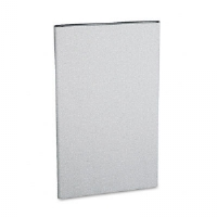 Simplicity II Systems Fabric Panel, 25-1/2w x 42h, Alumina Gray