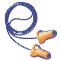 LT-30 Laser Trak Detectable Single-Use Earplugs, Corded, 32NRR, Orange/Blue