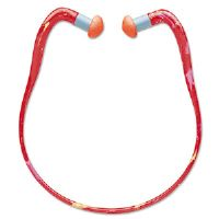 QB3HYG Banded Multi-Use Earplugs, 23NRR, Red Band/Orange Plug