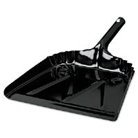 Heavy Duty Metal Dustpan, 12&quot;w x 14&quot; High, 20 Gauge Steel, Black