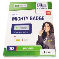 Name Badge Refill Kit, Silver, Laser, 1 x 3, 10 per Kit