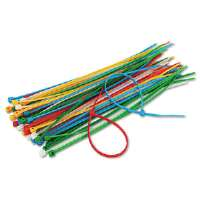 Cable Ties, 6-3/8 Length, Assorted Colors, 50 Ties/Pack