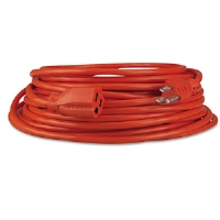 Indoor/Outdoor Extension Cord, 25 Feet, Orange