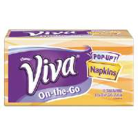 VIVA On-the-Go Napkins, 1-Ply, 8 9/10 x 10, White, 70 per Pop-Up Box