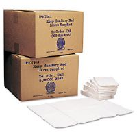 Baby Changing Station Sanitary Bed Liners, White