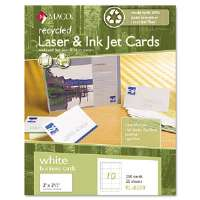 Recycled Laser/Inkjet Business Cards, White, 2 x 3 1/2, 250/Box
