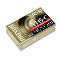 Maxell High Grade VHS-C Videotape Cassette, 30 Minutes (100 key minimum order requirement)(203010)