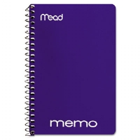 "Memo Book, College Ruled, 6"" x 4"", Wirebound, 40 Sheets, Assorted"