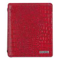 Deluxe iPad Case, Simulated Leather, 9-3/4 x 4-3/10 x 11-1/8, Red