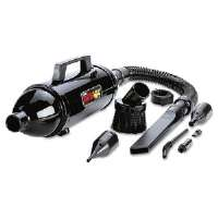 Steel Vacuum/Blower w/Accessories, 3 lbs, Black
