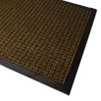 WaterGuard Indoor/Outdoor Scraper Mat, 36 x 120, Brown
