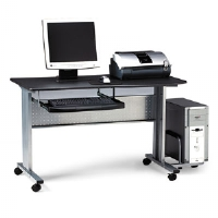 Eastwinds Mobile Work Table, 57w x 23�d x 29h, Anthracite