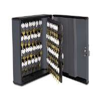 Security Key Cabinets, 90-Key, Steel, Charcoal Gray, 12 x 4 1/4 x 14 3/4