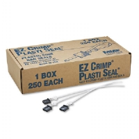 Ez Crimp Plastic Cash Bag Seals, Unnumbered, BLK, 250/Box