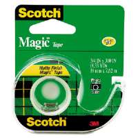 Magic Tape w/Refillable Dispenser, 3/4&quot; x 300&quot;, Clear