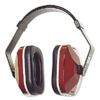 EAR Model 1000 Earmuffs, 20NRR, Maroon/Black