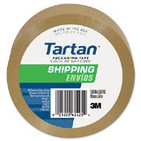 "Bulk-Packed Commercial Grade Tape, 2"" x 55 yards, 3"" Core, Tan"
