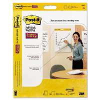 Self-Stick Wall Easel Unruled Pad, 20 x 23, White, 20 Sheets/Pad, 4 Pads/Carton