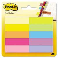 Page Markers, Five Assorted Bright Colors, 10 Pads of 50 Sheets per Pack