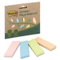Greener Page Markers, Pastel, 50 Strips/Pad, 4 Pads/Pack