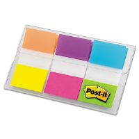 Flags in Portable Dispenser, Alternating Electric Glow Colors, 60 Flags per Pack