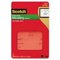 Permanent Heavy Duty Mounting Squares for Fabric Walls, 7/10 x 17/25, 24/Pack