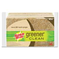 Greener Clean Non-Scratch Scrub Sponge, 4 1/2 x 2 8/10, 3/Pack