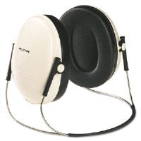 E�A�R Peltor OPTIME 95 Behind-The-Head Earmuffs, 21NRR, Beige/Black