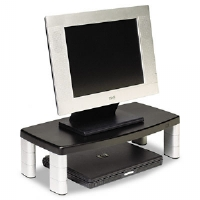 Extra-Wide Adjustable Monitor Stand, Black