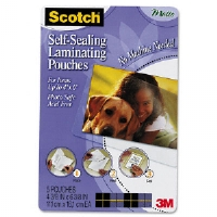 Self-Sealing Laminating Pouches, 9.5 mil, 4 x 6, Photo Size, 5/Pack