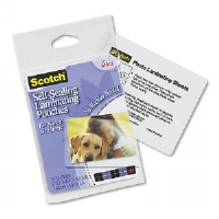 Self-Sealing Laminating Pouches, Glossy, 2 15/16 x 3 15/16, Wallet Size, 5/Pack