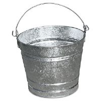 Galvanized Pail, 10 Qt, Steel