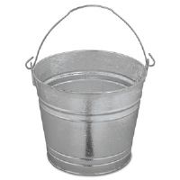Galvanized Pail, 12 Qt, Steel
