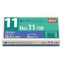 No. 11 Mini Staples for HD-11FLK, 1/4&quot; Leg, 3/8&quot;Crown Flat Clinch, 1,000/Box