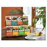 Tea Rack, 14 1/2 x 12 x 17 3/4, Black, 3 Boxes Each of 8 Flavors of Tea