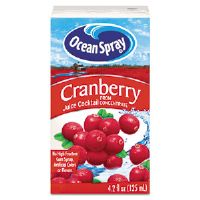 Aseptic Juice Boxes, Cranberry, 4.2 oz, 40 per Carton